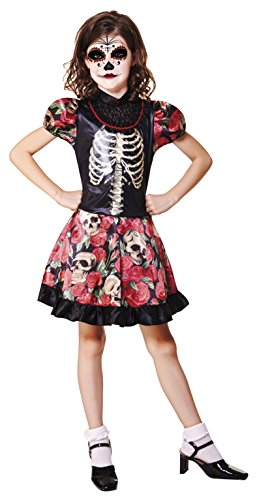 My Other Me Me-202256 Disfraz de Da de los Muertos para nia, 7-9 aos (Viving Costumes 202256)
