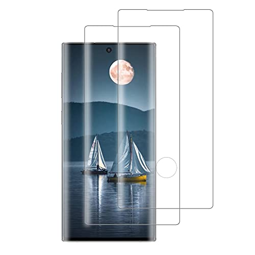 XSWO 2 Unidades Cristal Templado para Galaxy Note 10 Plus, Protector de Pantalla Samsung Galaxy Note 10 Plus, [3D Cobertura Completa] [9H Dureza] [Sin Burbujas] [Anti Huella Digital] Vidrio Templado