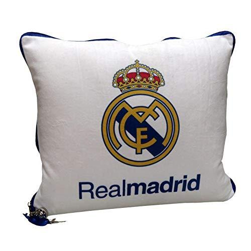 Real Madrid Secreto Referencia CP Cojines Textiles del hogar Unisex Adulto, Sintético, Multicolor (Multicolor), única