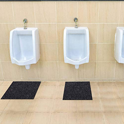 Urinal Mats,Bathroom Floor Protector,Urinal Floor Mats,Toilet Urinal Mat,Absorbent Material,Waterproof Layer,Anti-Slip,Durable and Machine Washable (Urinal Mats: 24inches x 24inches)
