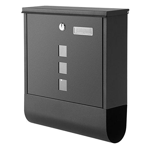 Tomasa Montierter Briefkasten Außenwand abschließbare Mailbox Gebürstetes Edelstahl Zeitung Wandbriefkasten Post Briefkastenanlage Letterbox (EU Lager) (Typ3)