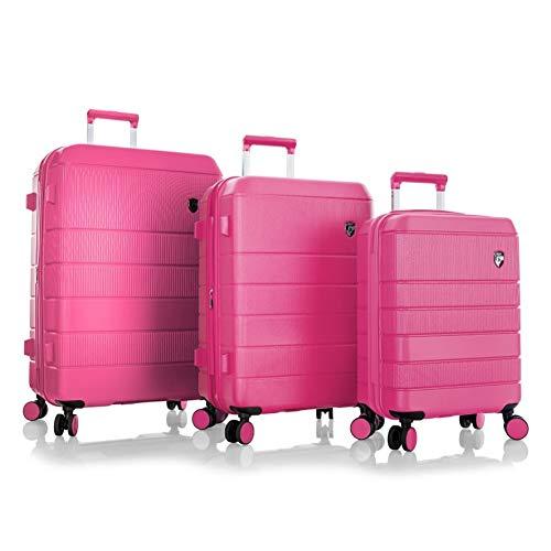Heys America Neo 3-Piece Hardside Spinner Luggage Set (Fuchsia)