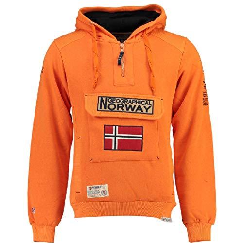Geographical Norway Sudadera DE Hombre GYMCLASS B Naranja M