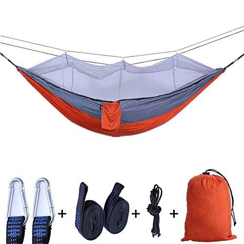 GHabby Hamac de Camping balançoire Portable pour 2 Personnes, hamac Double en Nylon léger Parachute avec Sangles, 260 x 140 cm