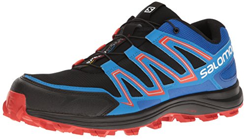 Salomon Speedtrak, Zapatillas de Trail Running para Hombre, Negro (Negro/(Black/Blue Yonder/Lava Orange) 000), 44 2/3 EU