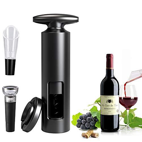 ZOYIDOUX Cavatappi,Apribottiglie 4 in 1 a Forma di T,Set apribottiglie Vino Professionale Include Tappi sottovuoto, Taglia Pellicola, versatore, per appuntamento, Feste e Amanti del Vino