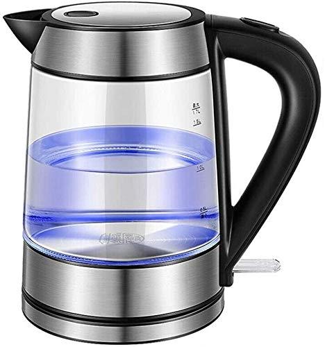 Hervidor de agua Tetera silbante Tetera de la Tetera Hervidor electrico de Vidrio 1.7 L con Acero Inoxidable Tapa Interior Auto-Off Dry Dry Protection 1800W WHLONG