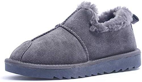 2018 Winter Neue Brot Schuhe Weißliche koreanische Version des niedrigen zu helfen Schnee Stiefel Frauen Plus Samt warme Kurze Stiefel Baumwolle Schuhe (Farbe   C, Größe   35)