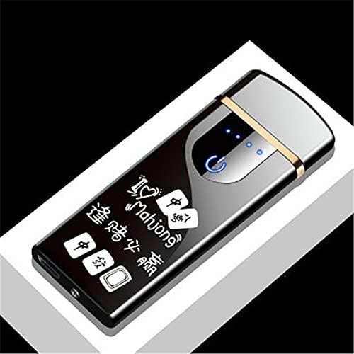 MUYEY Novedad Eléctrica Táctil Sensor De Tacto Frío Encendedor USB Recargables Portátiles A Prueba De Viento A Prueba De Viento Accesorios para Fumadores,8
