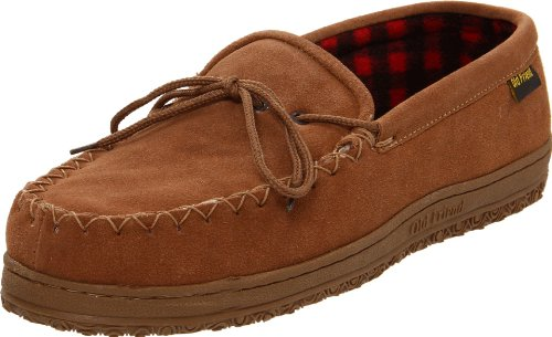 Old Friend Men's Wisconsin Slipper, Chestnut, 10