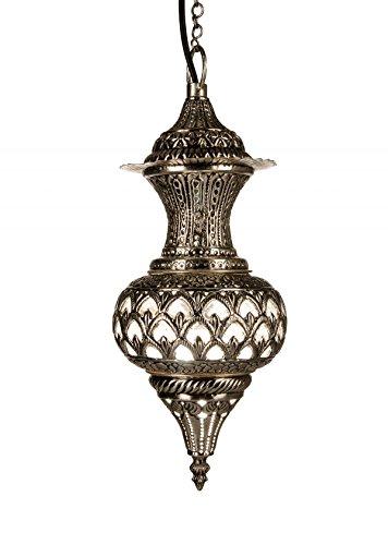 Oosterse Marokkaanse Arabisch messing zilver plafondlamp hanglamp lamp armatuur Alishba- W 50cm