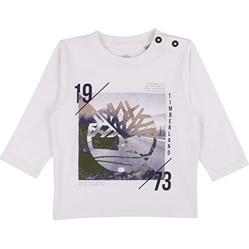 Timberland T-Shirt Coton Bio boutonné Layette Blanc Kaki 18MOIS