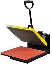 Fancierstudio Power Heat Press 15-by-15-Inch Digital Sublimation Heat Press, Black and Yellow