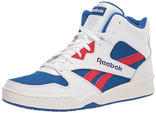 Reebok Men's BB4500 Hi 2 Sneaker, White/Vector Blue/Vector Red, 6.5