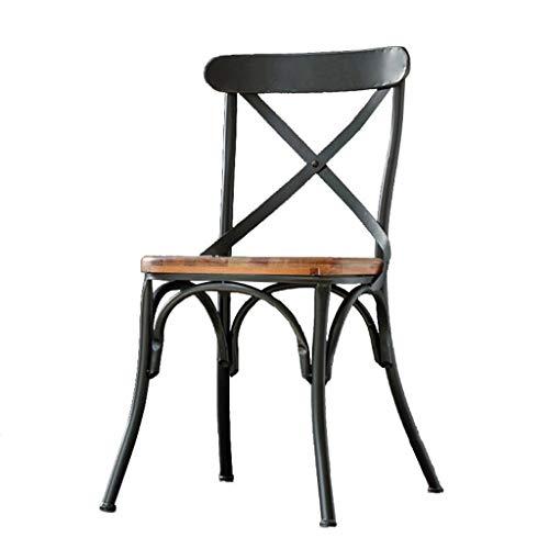 BTPDIAN Amerikaanse retro massief hout bar kruk woonkamer eetkamerstoel rugleuning antieke oude dinette salontafel en stoel bureaustoel