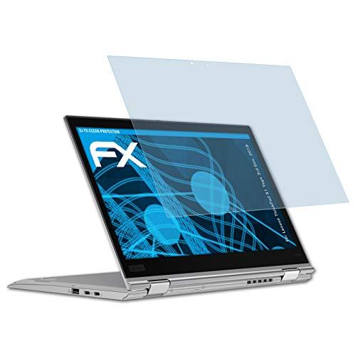 atFolix Schutzfolie kompatibel mit Lenovo ThinkPad X1 Yoga 3rd Gen. 2018 Panzerfolie, ultraklare und stoßdämpfende FX Folie (2X)