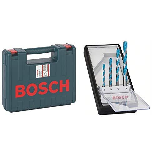 Bosch Professional 2 605 438 607Maletín de transporte, 350 x 294 x 105 mm, pack de 1 + 2 607 010 521 Juego de 4 brocas multiuso Robust Line CYL-9 MultiConstruction