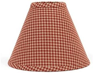 Home Collection by Raghu Newbury Gingham Barn Red Lampshade, 10