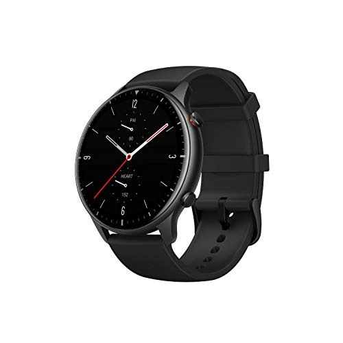 Amazfit GTR 2 Smartwatch Fitness Armbanduhr mit Bluetooth-Anruffunktion, 12 Sportmodi, Blutsauerstoffsättigungsmesser, 3GB Musikspeicher, Aluminium, Circle