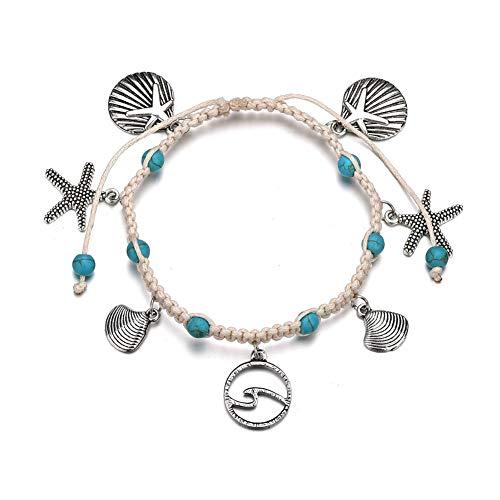 Yagoal fußkette Silber fußkette Damen Natürlich Fußkettchen Perlen Knöchel Armband Silber Fußkettchen für Frauen Sterling Silber Fußkette