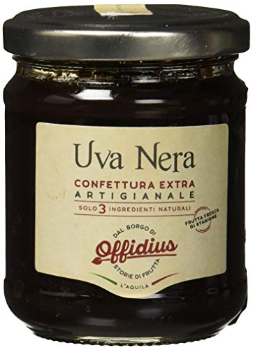Offidius - Confettura Extra Di Uva Nera - Marmellata Con Frutta Di Prima Scelta - 220 Gr