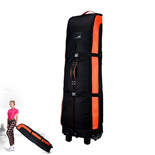 Oranje Golf Air Bag - Golf Pulley Chassis Bag - Golf Dubbele Air Bag - Aircraft Check Bag - Golf benodigdheden - Golf vouwtas