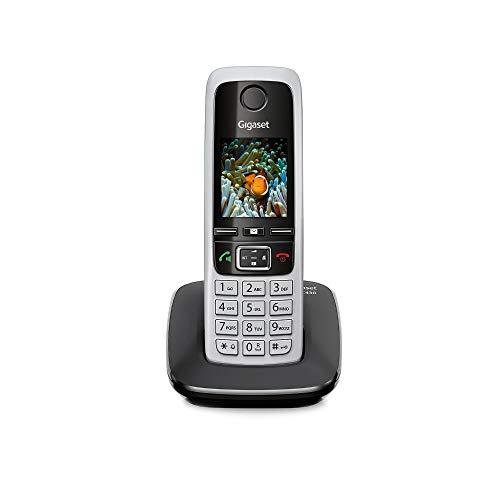 Gigaset C430 Schnurloses Telefon ohne Anrufbeantworter (DECT Telefon mit Freisprechfunktion, klassisches Mobilteil mit TFT-Farbdisplay) schwarz-silber