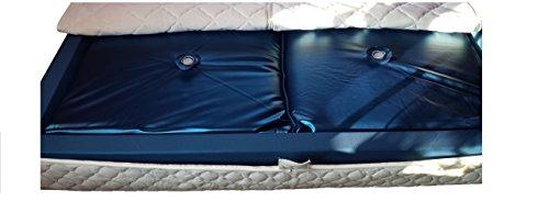 Mesamoll2® Wasserbett Matratze 90x200 Softside für Wasser-Doppelbett mit 180x200cm Außenkante I 1 x Wasserkern Softside F4 90% Beruhigung