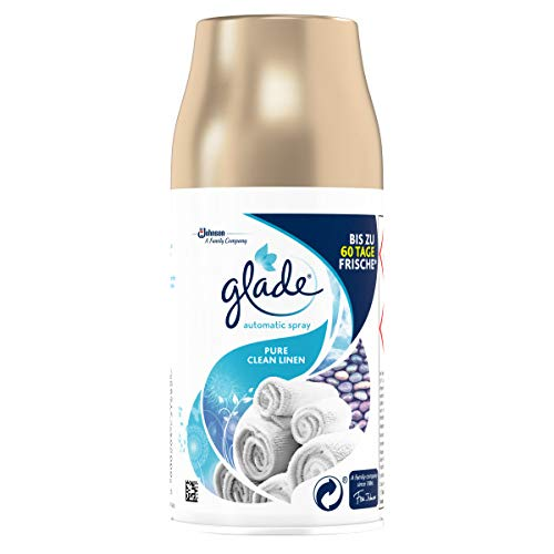 Glade (Brise) Automatic Spray Nachfüller, Raumduft, Pure Clean Linen (Fresh Cotton), 269 ml