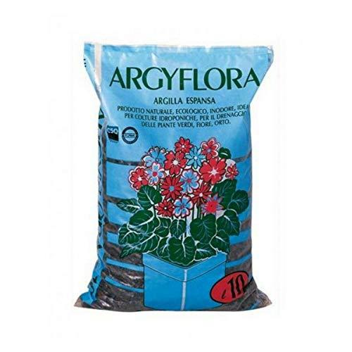 Humiflora Argilla espansa Sacco 10 L granuli drenaggio Piante vasi Isolamento pacciamatura