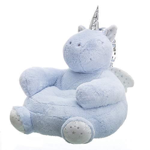 Puff Unicornio Azul de Microfibra Infantil para Dormitorio Child - LOLAhome