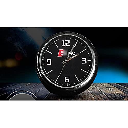 BLJS La Alta exactitud del Reloj del Coche pequeñas y Redondas a Bordo de Cuarzo decoración del Reloj Coche con el Logo de Coches,For sline Logo