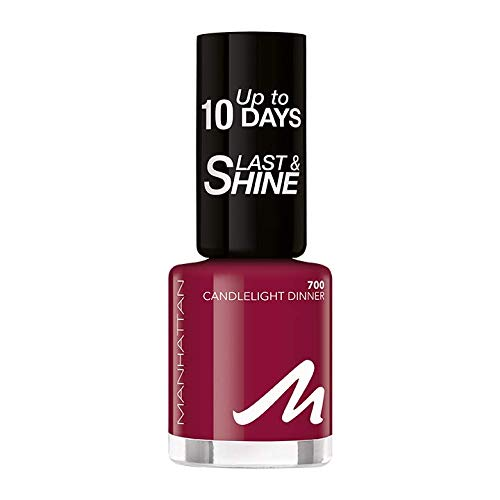 Manhattan Last und Shine Nagellack, Nr.700 Candlelight Dinner, 1er Pack (1 X 10 ml)