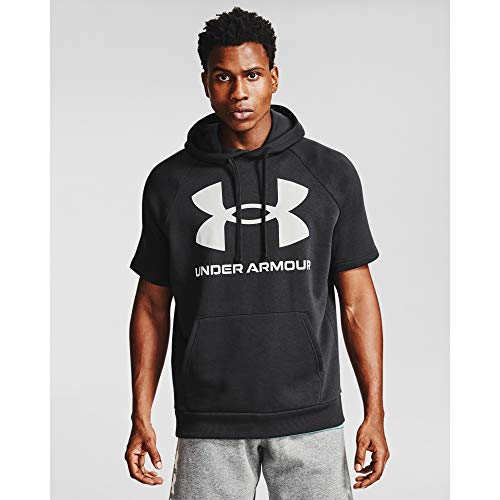 Under Armour Men's Rival Fleece Short-Sleeve Hoodie