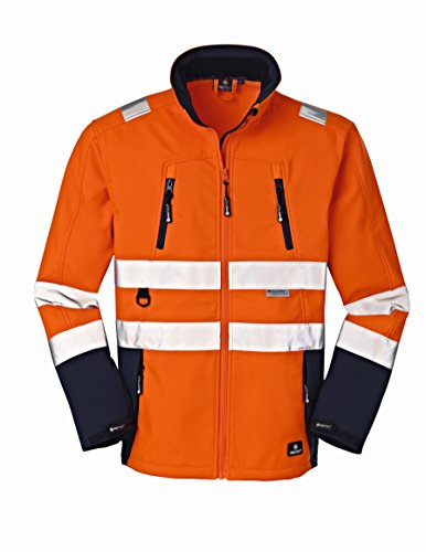 4Protect 20-003471-XL 4 Protect Warnschutz Softshelljacke PITTSBURGH 3471 Wetterschutzjacke XL, orange/blau