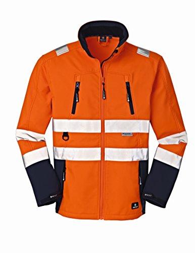 4Protect 20-003471-L 4 Protect Warnschutz Softshelljacke PITTSBURGH 3471 Wetterschutzjacke L, orange/blau, L