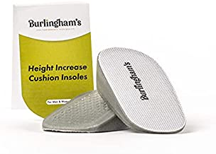 Burlingham's Invisible Heel Lift Inserts for Women - Comfortable Non Slip Height Increase Insole for Leg Length Discrepancy, Elevation, Heel Support - Height Insoles Fit Most Ladies' Shoes - 1 Inch