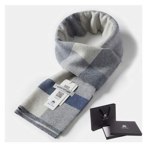 Bufandas Chal El otoño y el invierno de lana bufanda de tela escocesa de los hombres caliente y suave bufandas de gama alta de la bufanda cómodo conveniente for los regalos for los hombres Moda Bufand