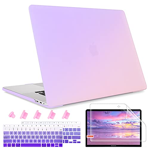 May Chen MacBook Air 13 inch Case 2020 2019 2018 Release A1932 A2179 A2337 M1 with Retina Display,Plastic Hard Shell case Keyboard Cover for Newest Air 13 with Touch ID,Gradient Purple