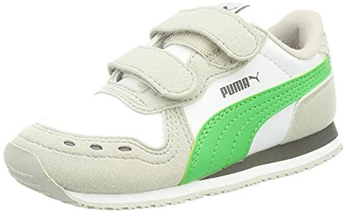 Puma Unisex Baby CABANA RACER SL V INF Sneaker, White-Island Green, 27 EU