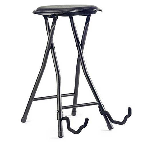 Stagg GIST-300 Foldable Stool with Built-In Guitar Stand