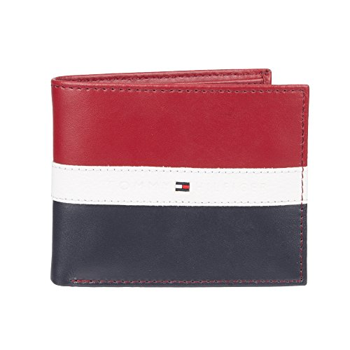 Tommy Hilfiger Leather Men's Wallet Red Navy