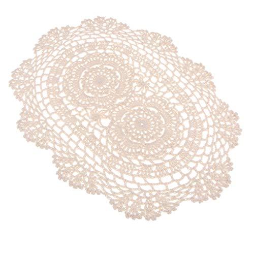 F Fityle Tapete de Encaje de Ganchillo Corredor Cubierta para Sofá Muebles Artesanía Decorativa Hogar Restaurante