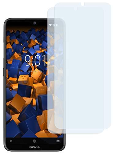 mumbi Schutzfolie kompatibel mit Nokia 7.2 Folie klar, Bildschirmschutzfolie (2X)