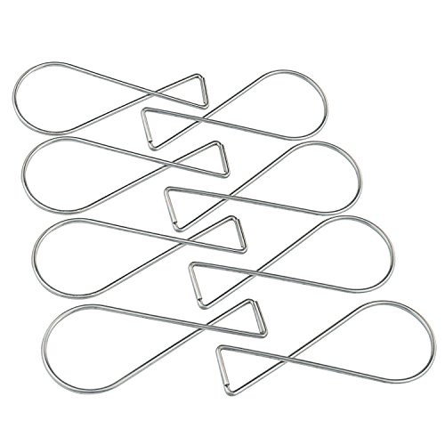 100 PCS Ceiling Hooks Clips – Pistha T-bar Squeeze Hangers Clips, Using in Office, Classromm or Living Room, Bed Room