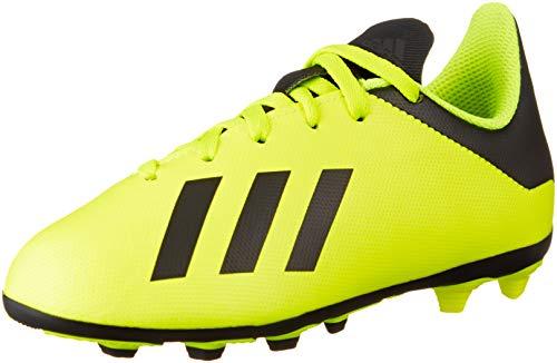 adidas Boys' X 18.4 FxG Footbal Shoes, Core BlackSolar Yellow 0 5 UK