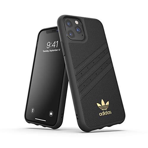 adidas Originals Kompatibel mit iPhone 11 Pro Hülle, schützende Premium geformte PU Handyhülle - Schwarzes Gold