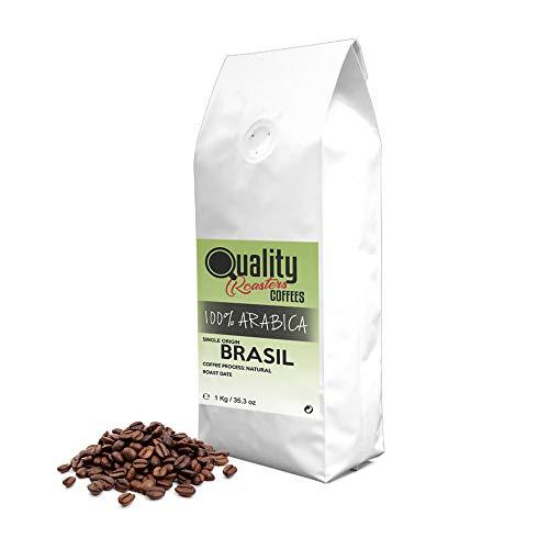Café en grano natural. 100% Arabica. Origen único Brasil, 1kg. Tostado artesanal.