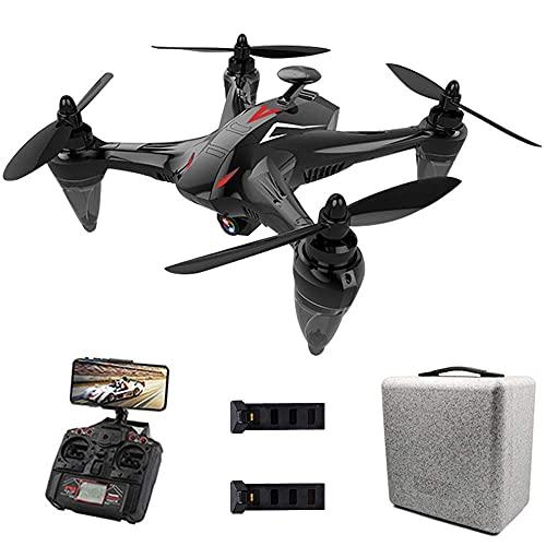 DCLINA Drone con videocamera 4K UHD Video in Diretta per Adulti, Quadricottero GPS FPV WiFi 5G con Motore brushless, Follow Me, 50 Minuti Tempo Volo