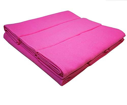 Damilo 6 Geschirrtücher Küchentücher Putztücher Rosa/Pink aus 100% Baumwolle